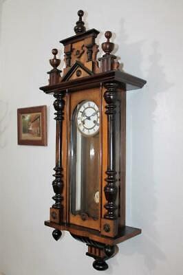 Low Reserve Price Good Antique Striking German Vienna Regulator Wall Clock C1900