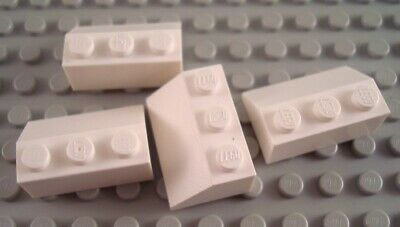 blanc white Brique Toit Roof Brick 1x2x3 73° Lot x2 Lego 446001-4460