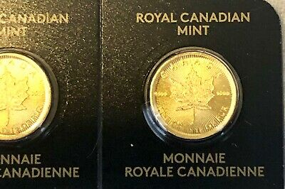 Rare Gold Coin Canadian Maple Leaf 2019 - 1g (gram) 99.99% pure gold Scarce!