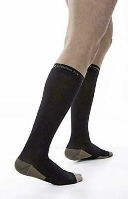 Copper Fit Energy Knee High Compression Socks, Black Large/XL NWT