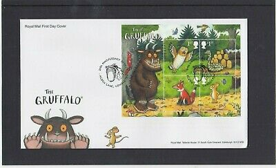 GB 2019 The Gruffalo owl MS RM First Day Cover Acorn Lane Congleton special pmk