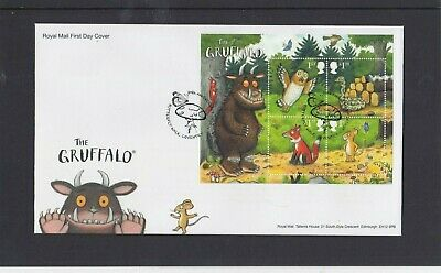 GB 2019 The Gruffalo owl MS RM First Day Cover Butterfly Walk Coventry special p
