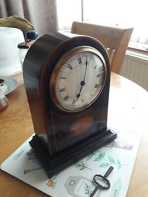 Antique Mahogany Mantel Clock
