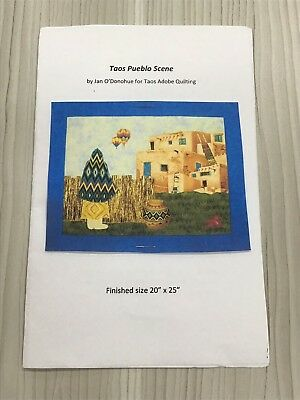 """Taos Pueblo Scene Quilting Kit Finished Size 20"""" X 25"""" - Includes Backing"""