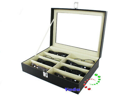 Glasses Case Glasses Glasses Glasses for 8 Glasses Leatherette SKW95