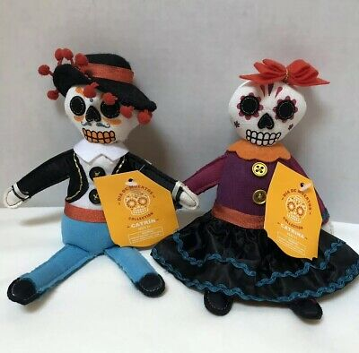 "Target Day of Dead Dia De Muertos 8"" Bean Bag Plush Doll Catrin + Catrina 2018"
