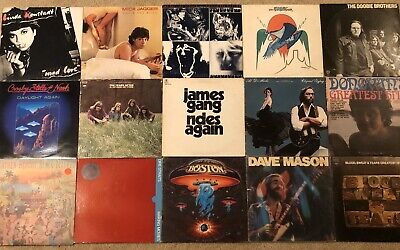 Classic Rock LP Record Lot! Rolling Stones Ten Years After Boston And More G+/NM