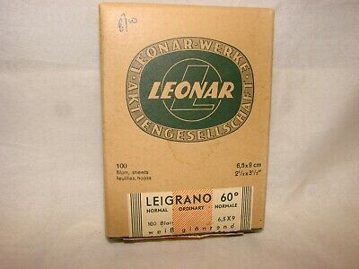 Vintage Leonar Leigrano Hamburg Germany 60 Deg. Normal 6.5x9cm Sheets Boxed