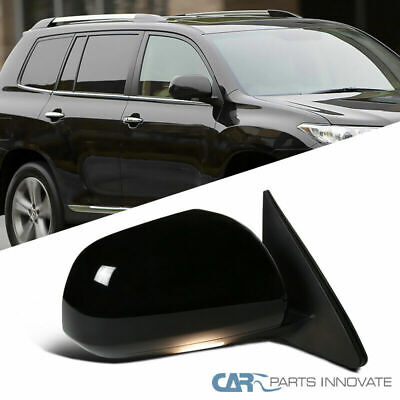For Toyota 08-13 Highlander Passenger Power Heated 7 Pin Side Mirror+LED Puddle