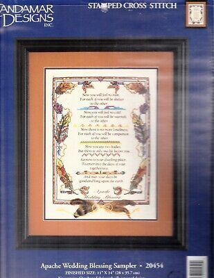 Stamped Embroidery Kit: Apache Wedding Blessing Sampler