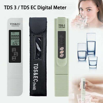 Digital TDS EC Meter Tester Paper Aquarium Pool Hydroponic Water Test Pen Stick