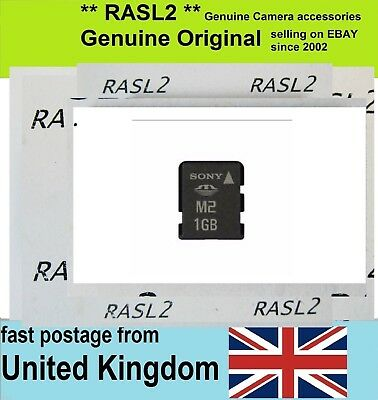 Genuine Sony M2 1GB Memory Card MS-A1G For Camera ,Ericsson, older Xperia,PSP GO