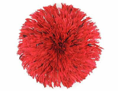 Headdress Juju Feather Bamileke Cameroon African Art Red SALE WAS $250.00