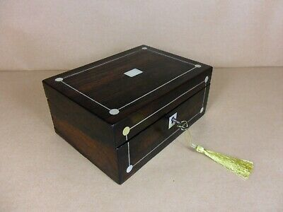 ANTIQUE VICTORIAN  ROSEWOOD JEWELLERY/TRINKET  BOX.C1825-1835 (Code 527)