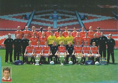 6/ Manchester United  Printed Autographed Team Groups 1999/00 And 02/03