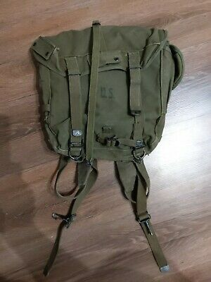 Original WWII US Army M-1945 pack field combat bag, rucksack, backpack 1944 WW2
