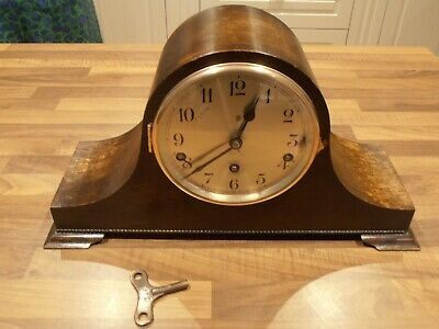 Antique Mahogany Cased Westminster Chime Mantel Clock