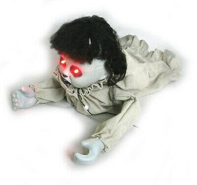 """Animated Crawling Evil Zombie Baby Halloween Haunted House Party Prop 21"""""""
