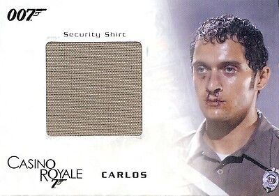 James Bond In Motion Costume Card SC05 Carlos' Security Shirt