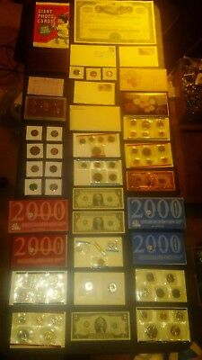 USA coin LOT collection MINT SETS PROOF $2 RAILROAD BOND baseball NO JUNK DRAWER