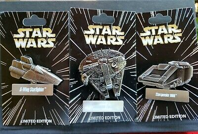 Millenium Falcon Star Wars Celebration 2017 Disney Pin/AWing Starfighter/Starspe