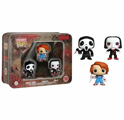 Funko Horror Pocket Pop Ghost Face Chucky & Saw Bill 3 Pack Tin Vinyl Figures