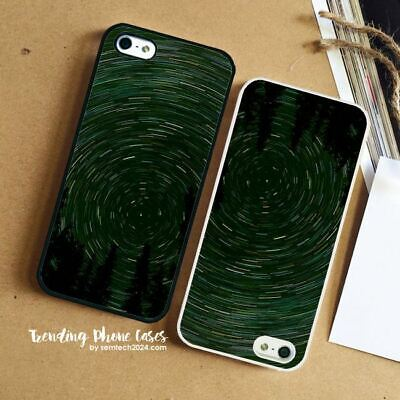 star-trail-green-tree-space-night-nature  iPhone X Samsung S10 Pixel Case