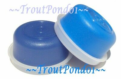 New Tupperware Smidgets Mini Bowls Set of 2 Dark Blue and  Light Blue Containers