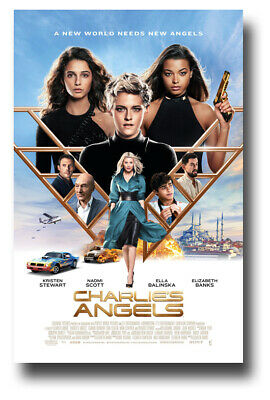 "Charlie's Angels Movie Poster - 11""x17"" 2019 Main Collage SameDay Ship from USA"