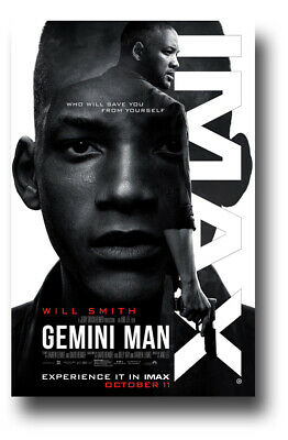 "Gemini Man Movie Poster 11""x17"" 2019 Imax Will Smith USA SHIPS SAMEDAY"