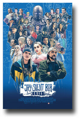 """Jay and Silent Bob Reboot Movie Poster - 11""""x17"""" Sketch SameDay Ship from USA"""