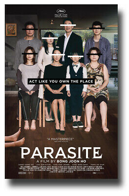 "Parasite Movie Poster - 11""x17"" 2019 Korean Floor USA SHIPS SAMEDAY"
