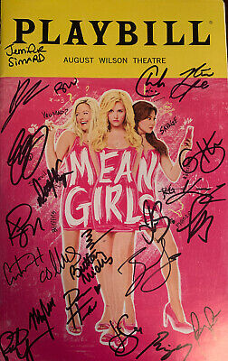 Mean Girls Broadway Playbill Signed Autographed March 2018