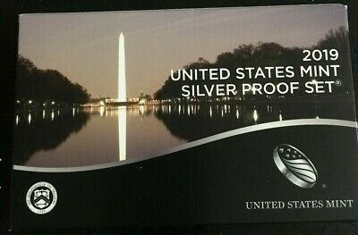 2019-S SILVER Proof Set With Box & C.O.A. - 10 COIN SET