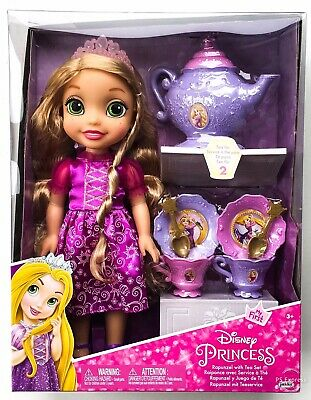 Disney Princess Rapunzel Doll With Tea Set Tangled New Toys For Girls 3 4+ Years