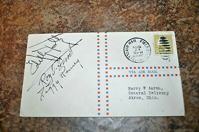 Women pilot signed 1932 Cleveland OH NATIONAL AIR RACES AIR MAIL Peggy Penny