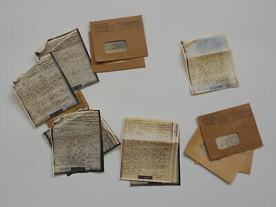14 WWII V-Mail Letters U.S.S. William D. Porter Houston Texas WW II Lot VTG WW2