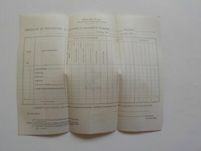 Civil War Unused Document Ammunition No Writing Antique 1 Paper Army Military NR