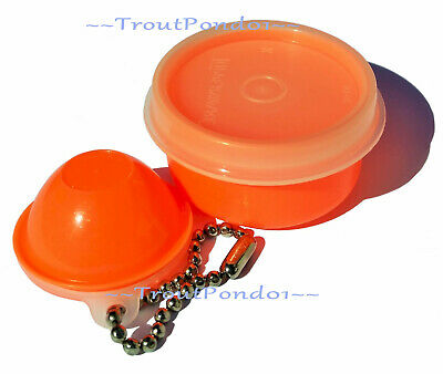 New Vtg Tupperware Mini Wonderlier Bowl Keychain Smidget Neon Orange Rare