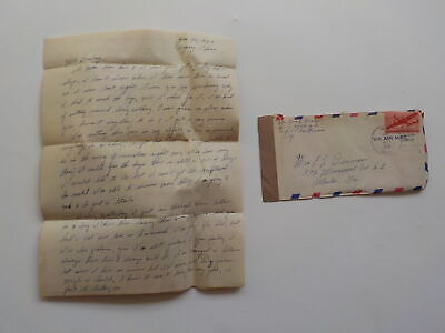 Chinese Civil War Letter 1946 Venereal Disease V.D. Peiping China Marine USMC