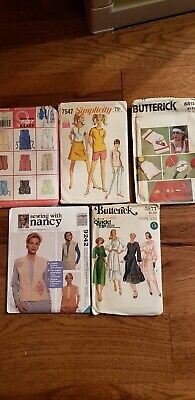 HUGE  lot MISS sewing pattern Vest dress sports top pants shorts  new uncut