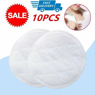 10PCS Bamboo Reusable Breast Pads Organic Plain Nursing Breast Pads Washable 3L