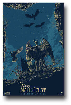 "Maleficent Poster - 11""x17"" 2 Mistress Evil Blue Wings  SameDay Ship from USA"