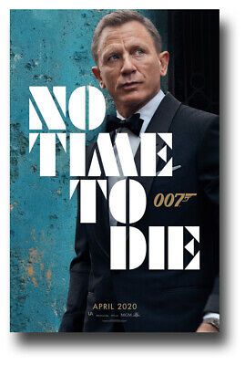 "No Time To Die Movie Poster 11""x17"" 1st Wall 2020 James Bond USA SHIPS SAMEDAY"