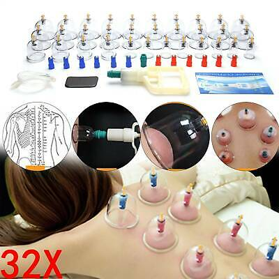 32Pcs Chinese Cupping Vacuum Massage Set Medical Therapy Health Acupuncture Kit