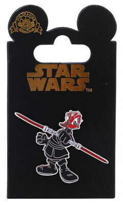 2008 Disney Star Wars Donald Duck as Darth Maul Pin With Packing N2