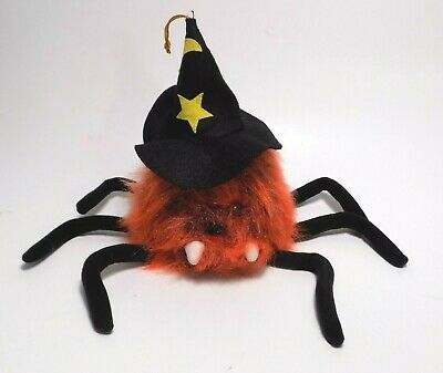 Haunted Spider Witch Ghost Hairy Sound Activated Halloween Laughing Wailing