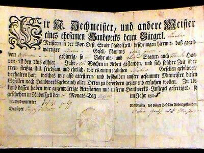 Early German document,  1808
