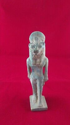 Ancient Egyptian Antiquities Ushabti of God Sekhmet  (1390–1352 B.C.E)