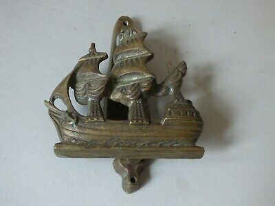 Solid Brass Collectable Pirate Spanish Galleon Ship Door Knocker #2 Free Uk P+P